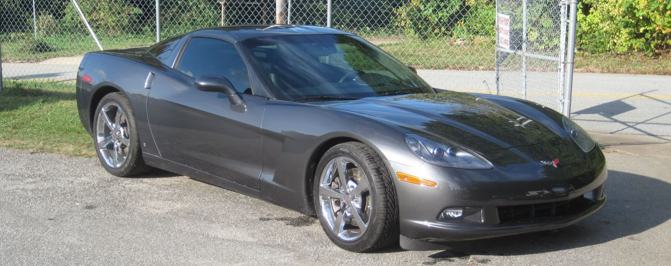 Corvette after auto body repair and paint in High Point, NC