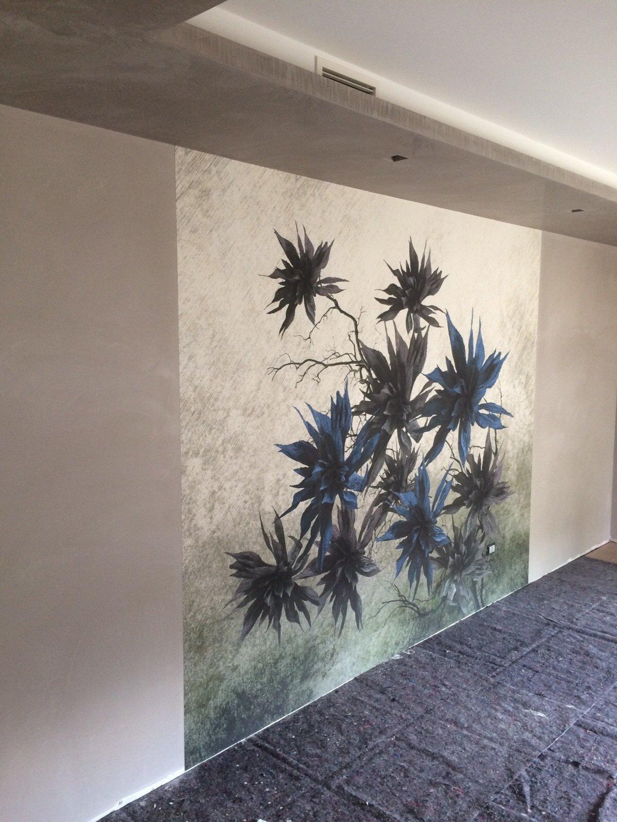 Decorazioni fiori per parete