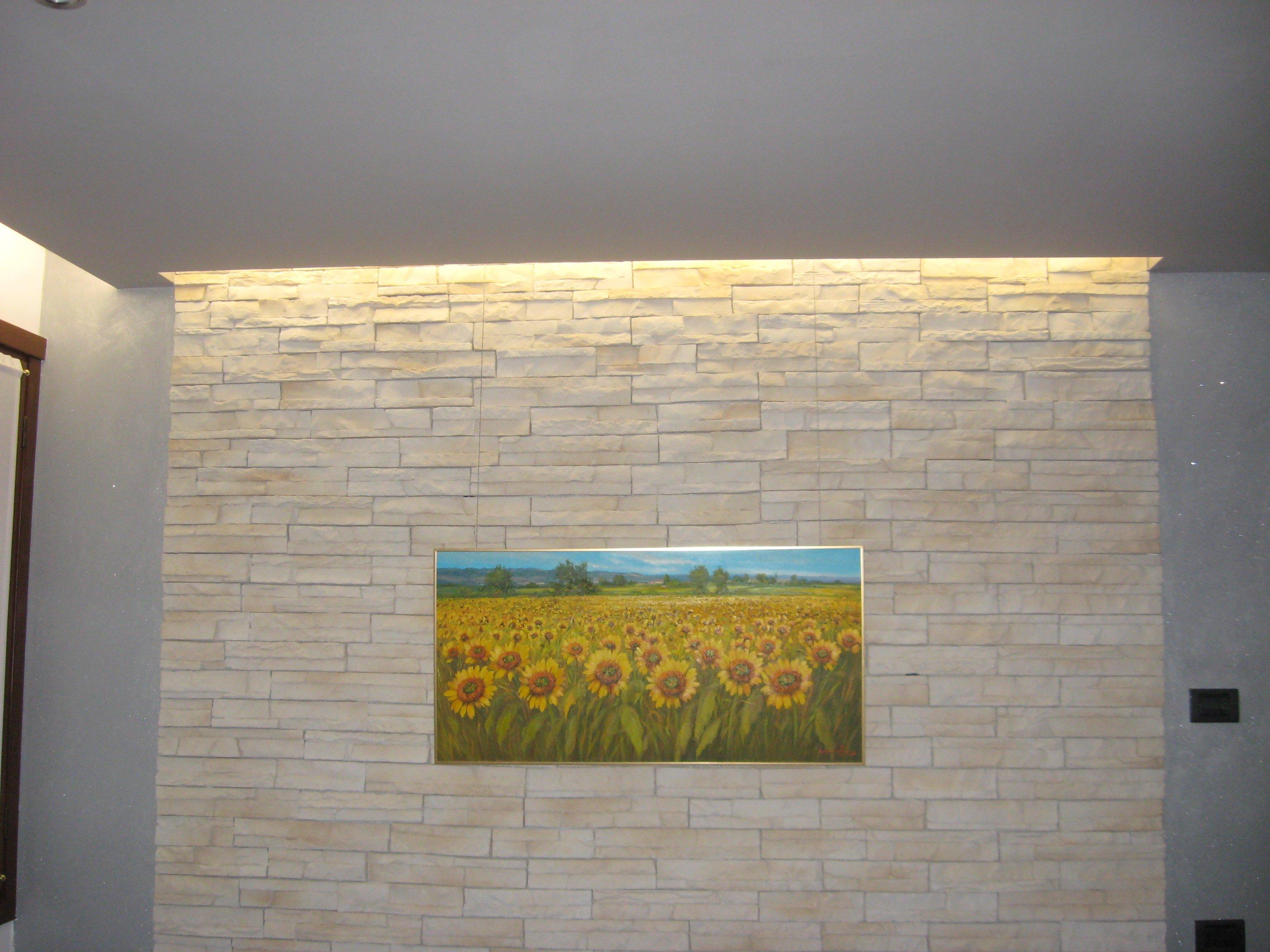parete con quadro girasoli