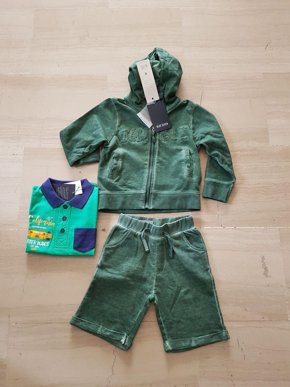 Completo verde per bambino