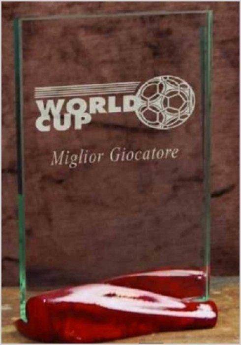 Vendita trofei dedicati alla world cup.