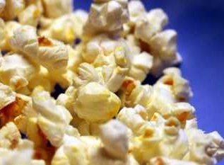 popcorn blue background