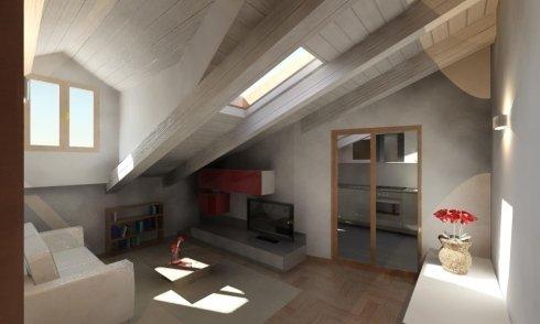 Visualizzazione 3d appartamento