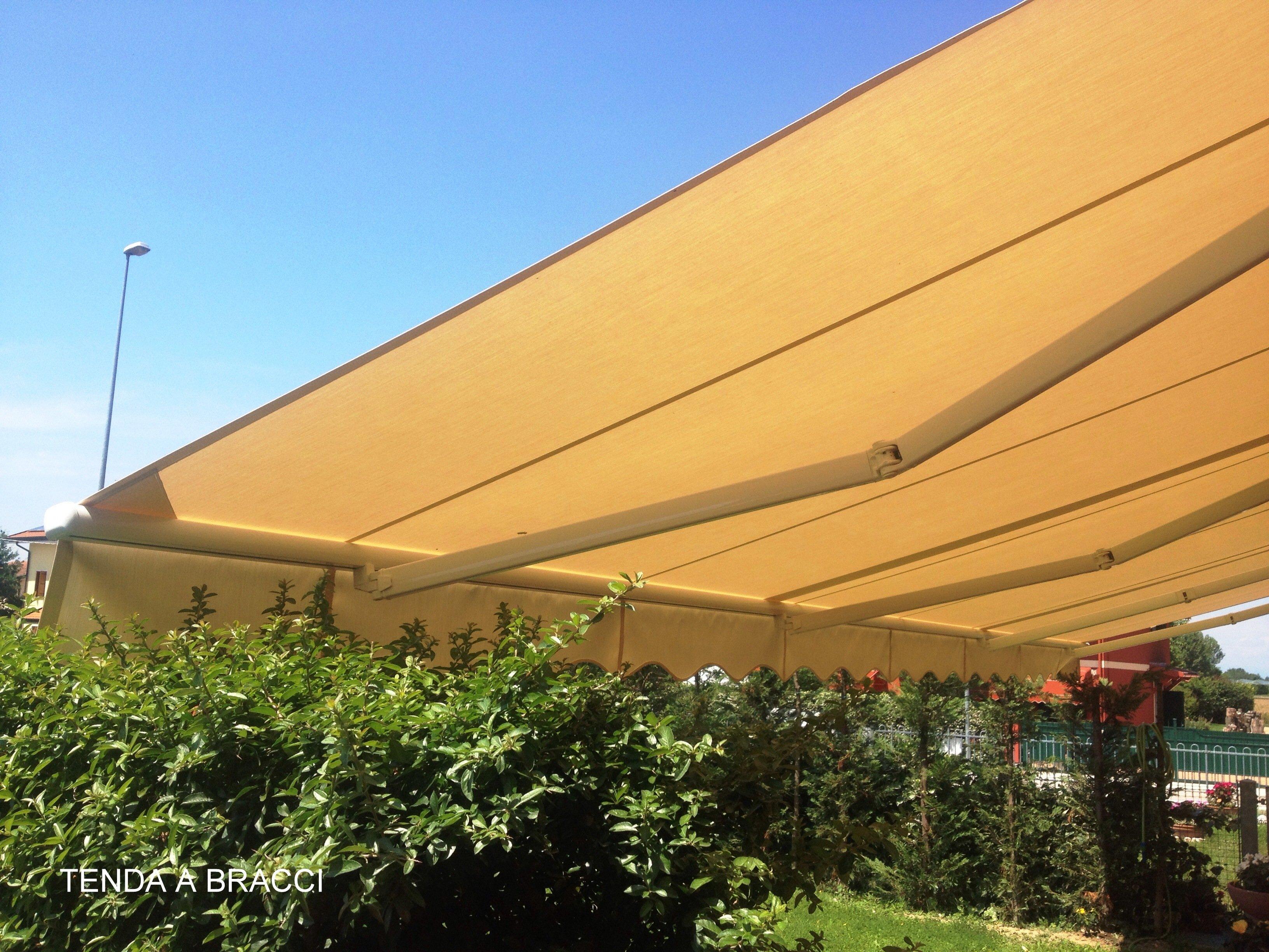 tenda estendibile giallo ocra