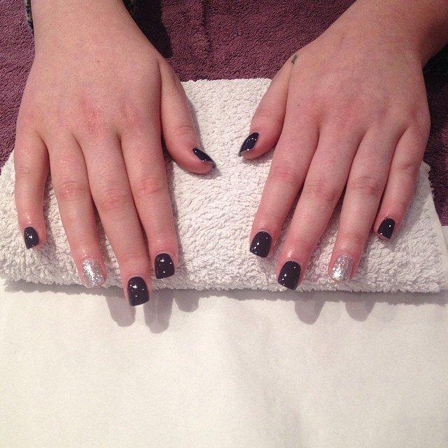 black and white nail polish