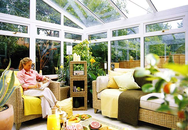 interior of a upvc conservatory