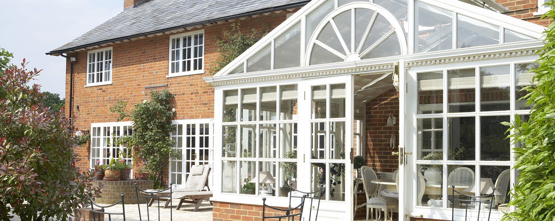 upvc conservatory at the back of a house