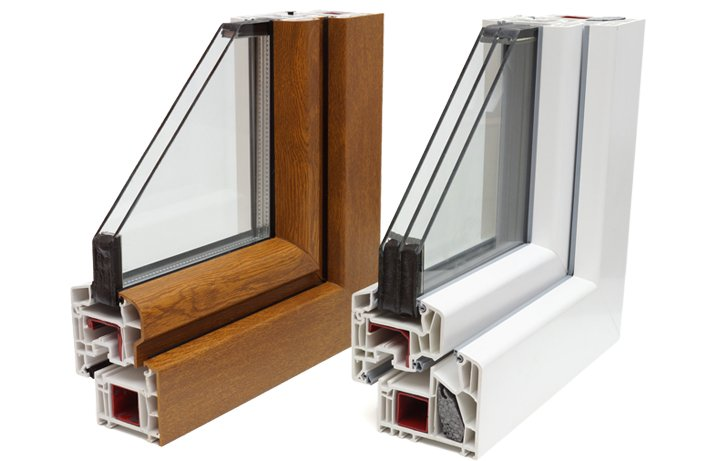 wooden and upvc dissected window frames