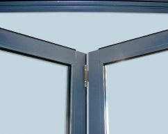 the center of a bifolding door