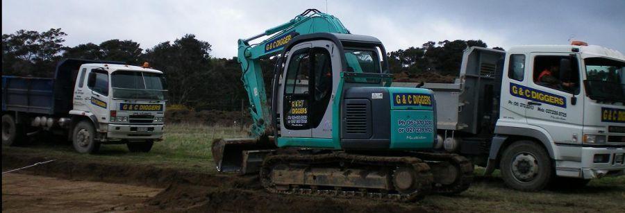 Excavation work being performed in Wairarapa