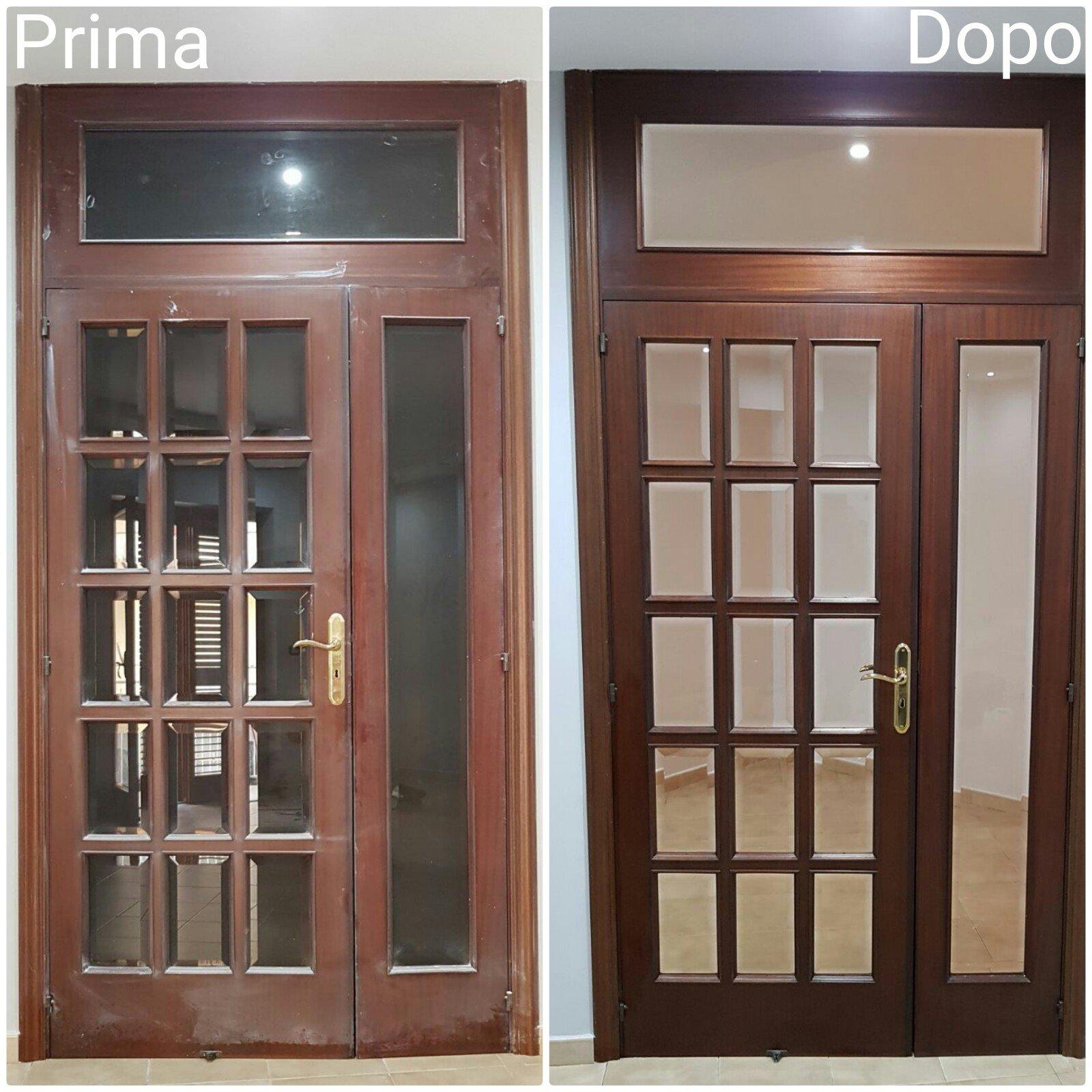 Pulizia di porte e finestre