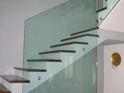 Ringhiera scale in vetro - Monza e Brianza