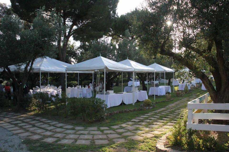 allestimento catering giardino