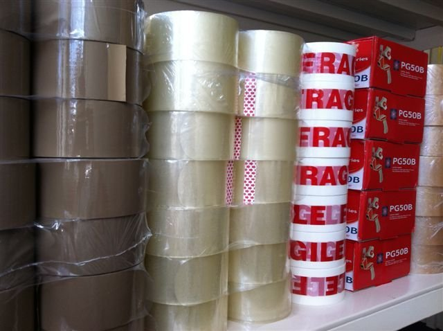 Packaging solution - Bristol - Rendac Packaging Solutions Ltd - stacks of packaging tapes