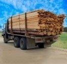 mezzi di trasporto, consegna legna, legname da costruzione