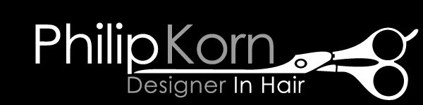 philip korn designer in hair scissor logo