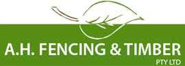 a h fencing and timber pty ltd logo