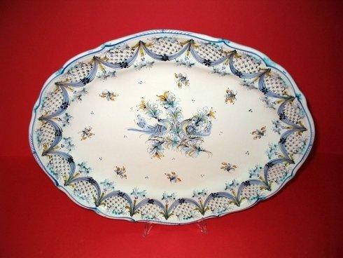 piatto murale ovale con baccelli