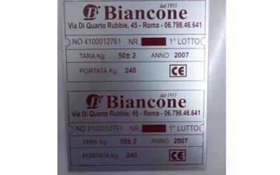 Targa in alluminio serigrafata