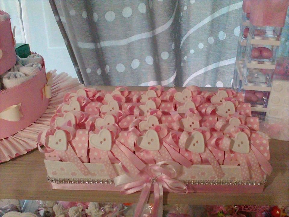 bomboniere rosa per la nascita di una bambina