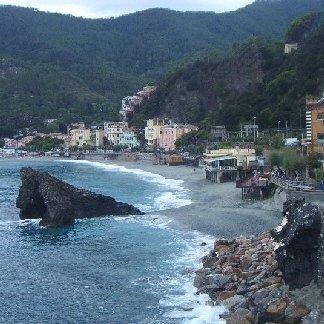 Il panorama sul mare di Monterosso.