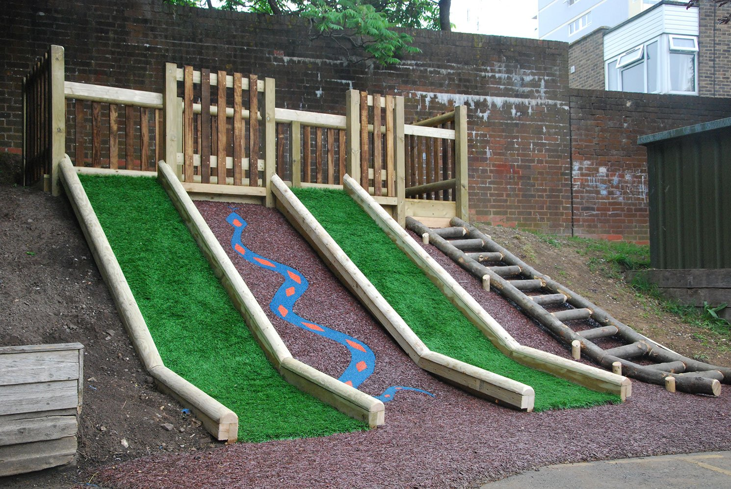 View of the playground for kids