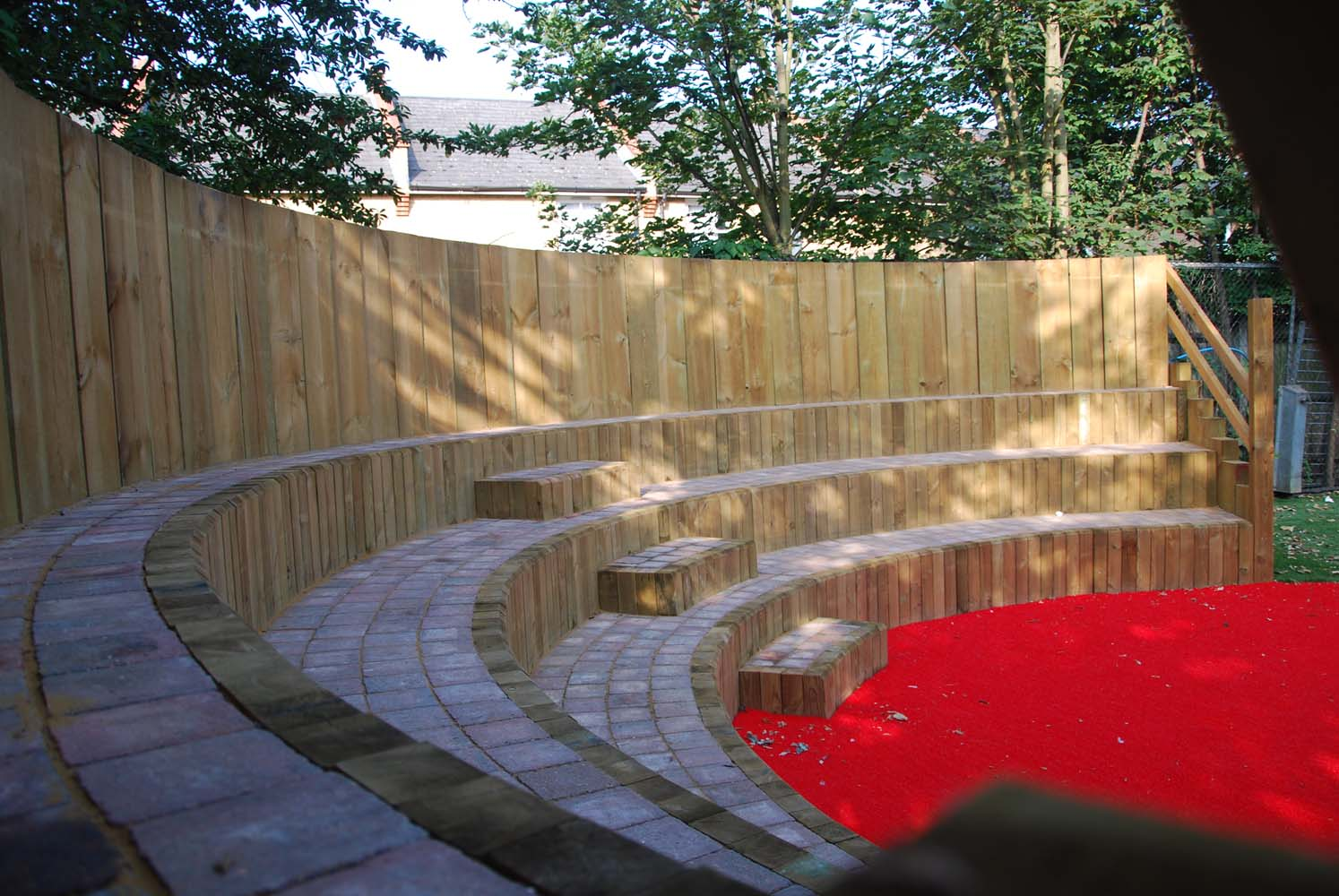 View of an outdoor seating area