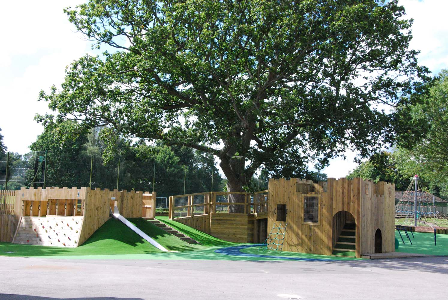 View of the playground in the prep school