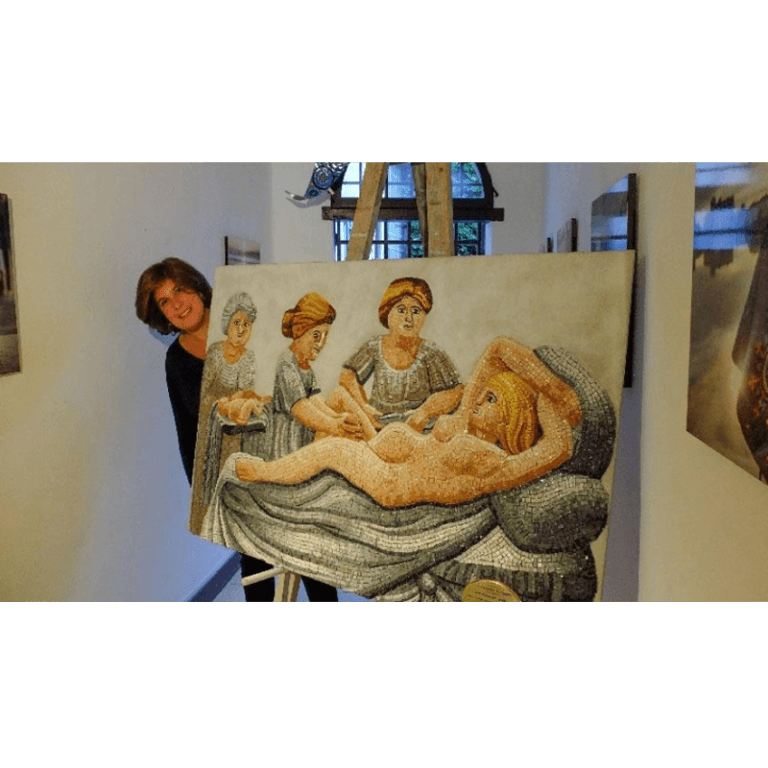 the woman in labour mosaic