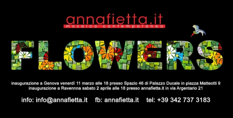 Annafietta Exhibition Mosaic Flowers