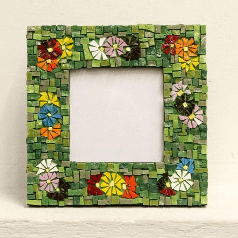portafoto in mosaico