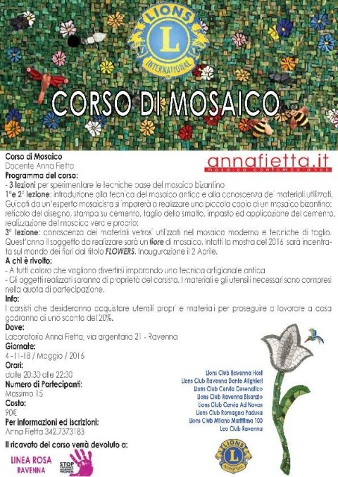Mosaic courses in Lyons