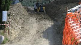 costruzione di strade di montagna