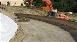 costruzione di strade sterrate
