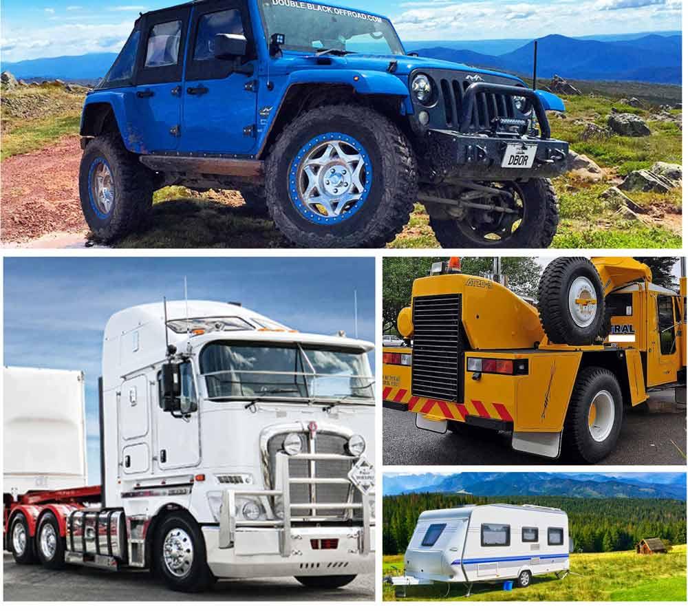 australian general engineering 4wd caravan trucks