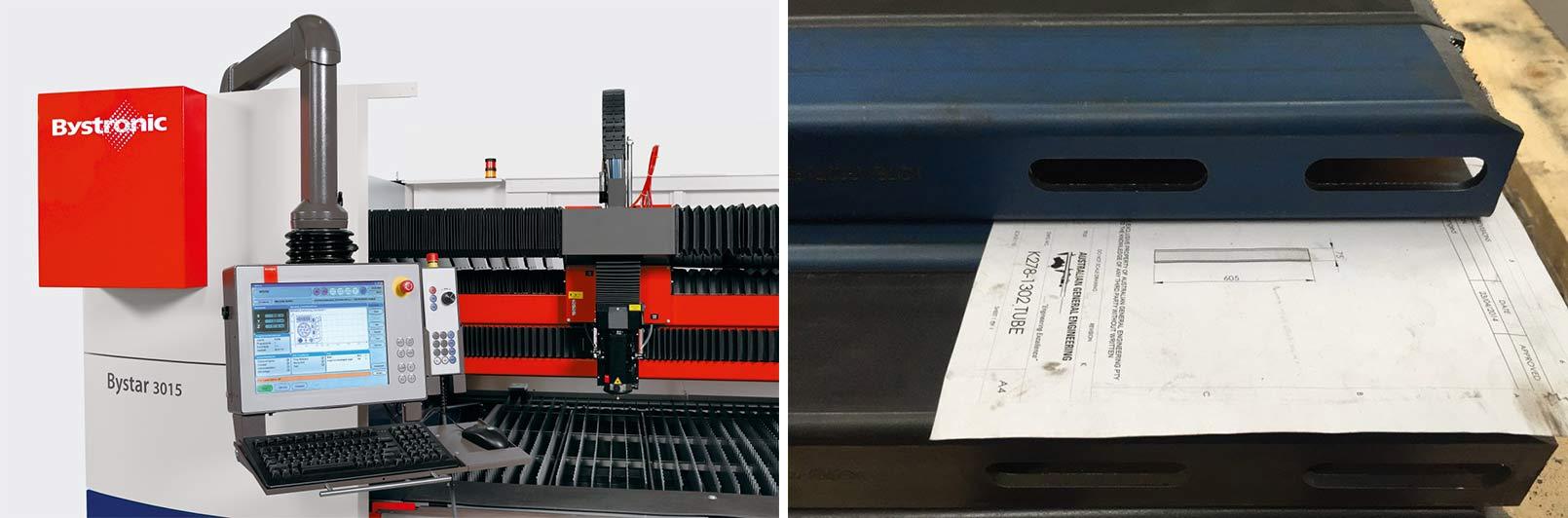 australian general engineering bystar machine and laser cutting