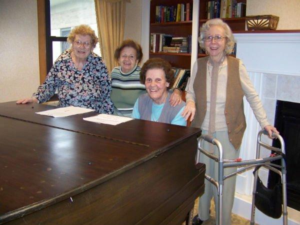 Group pic of old ladies enjoying