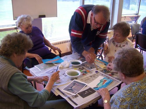 Activities organised at Park Creek for old aged people