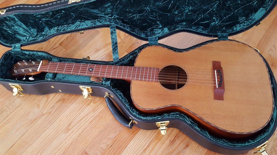 Custom torrefied guitar