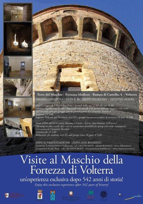 inserto pubblicitario VISITE AL MASCHIO DELLA FORTEZZA DI VOLTERRA