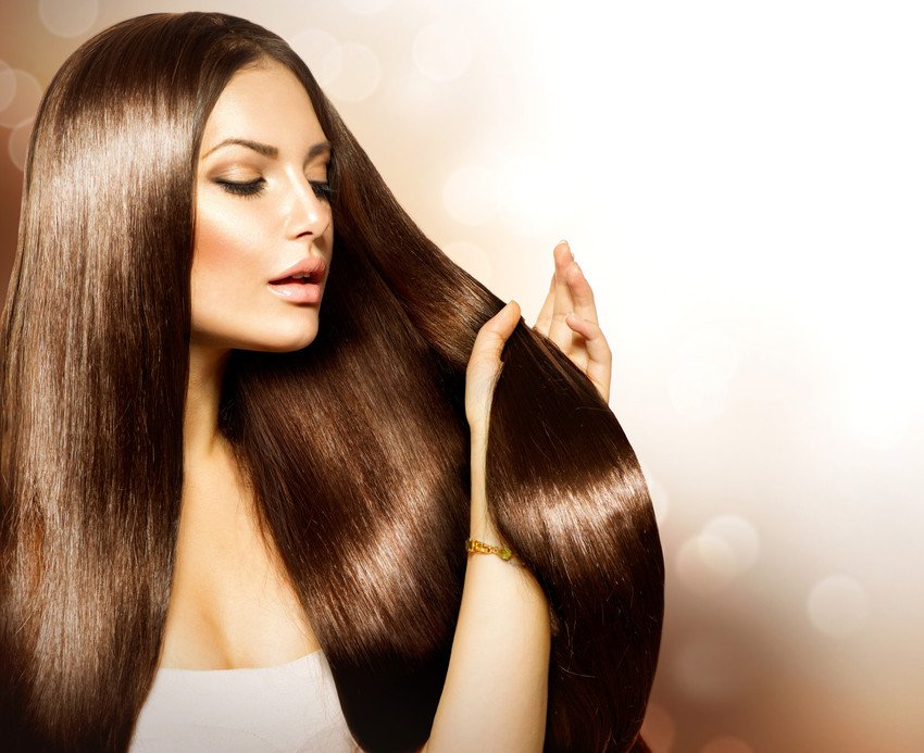 woman with golden brown hair