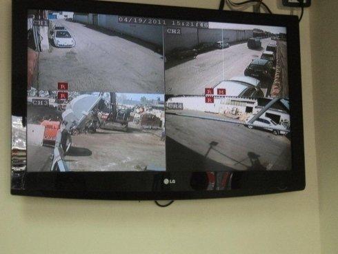 Uffici con telecamere di sicurezza.