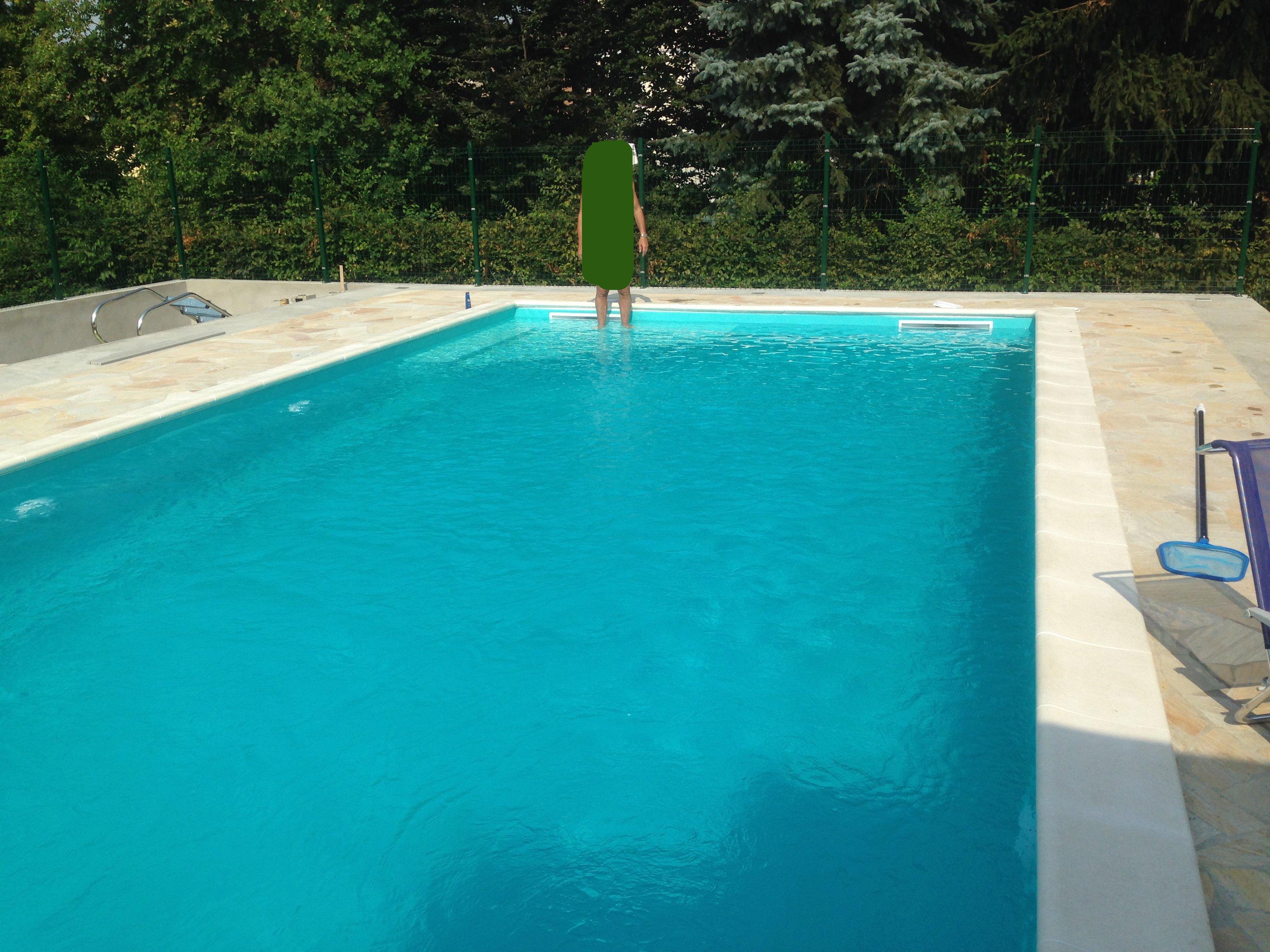 Progetto completato di una piscina