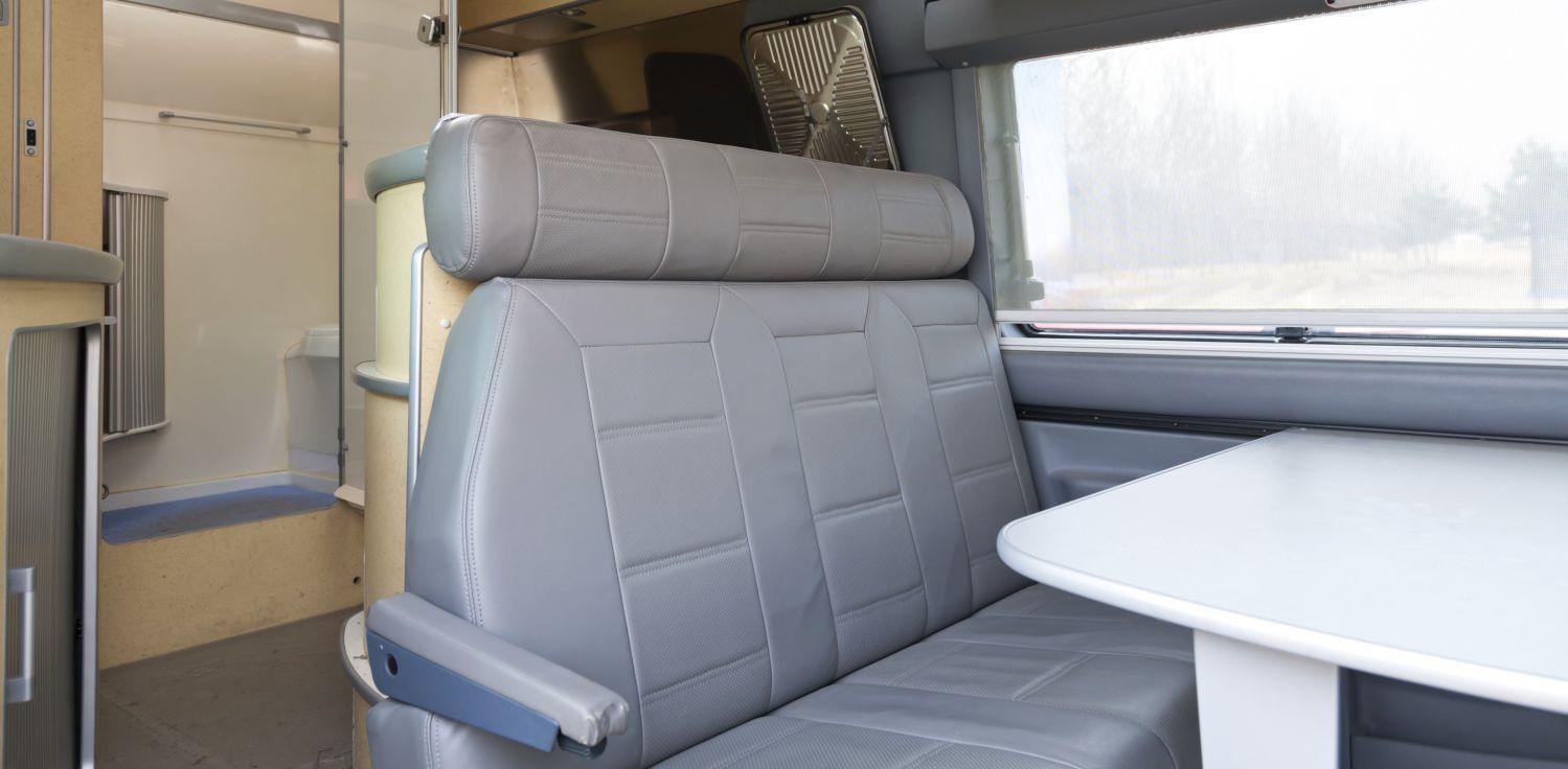 Caravan interior in North Island