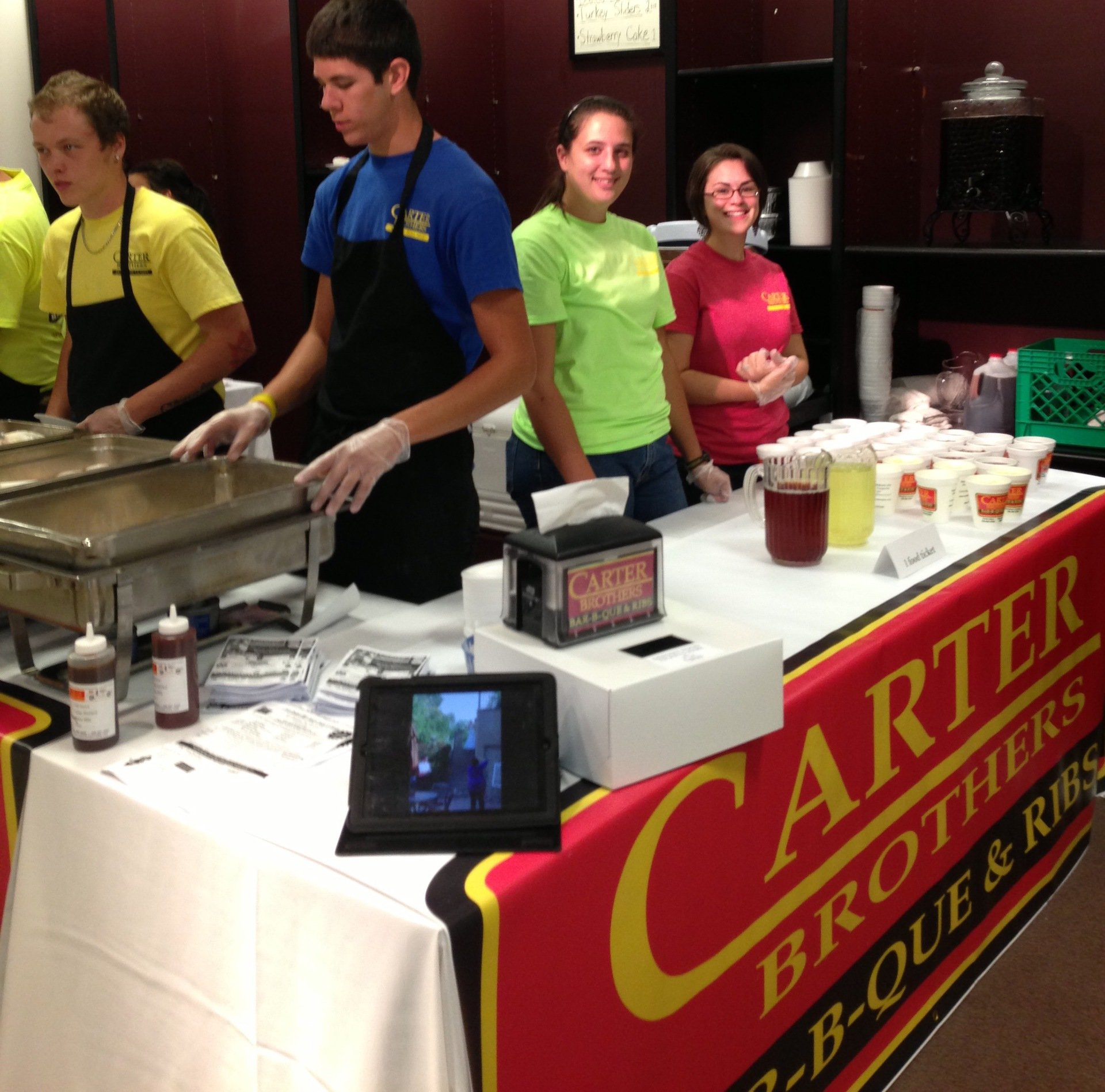 Food contest organised by carter brothers in High Point, NC