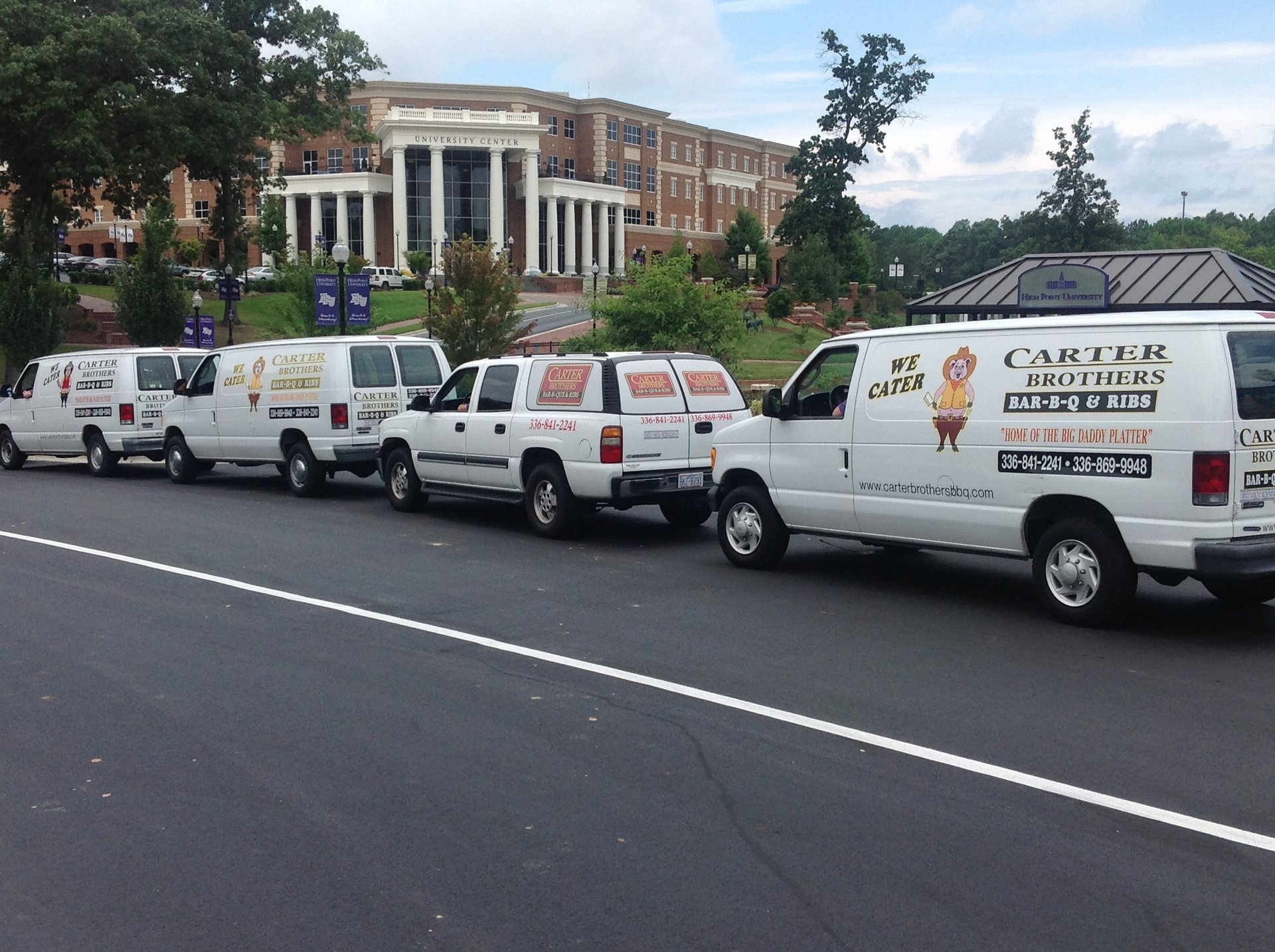 Carter brothers van are parked in High Point, NC