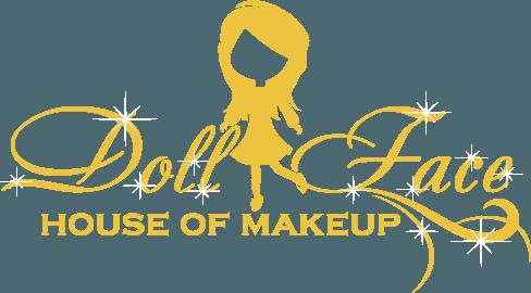 doll face logo in gold