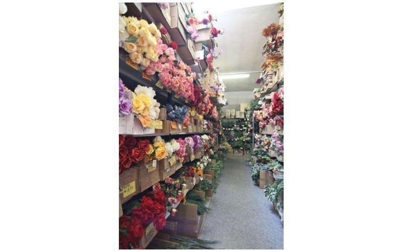 Addobbi floreali in tessuto