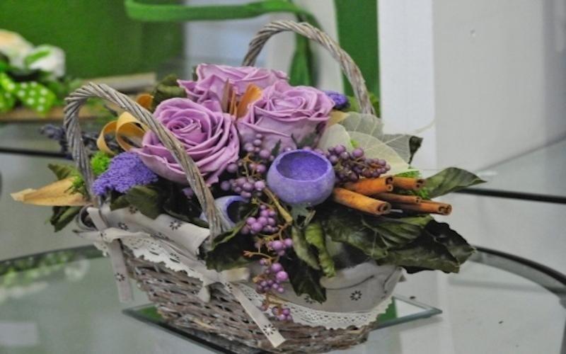 Centrotavola fiori finti
