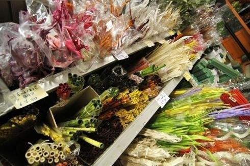 Spighe e fiori colorati